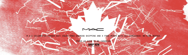 MAC Cosmetics Canada Free Express Shipping Canada Day Promotion Canadian Deals 2018 - Glossense