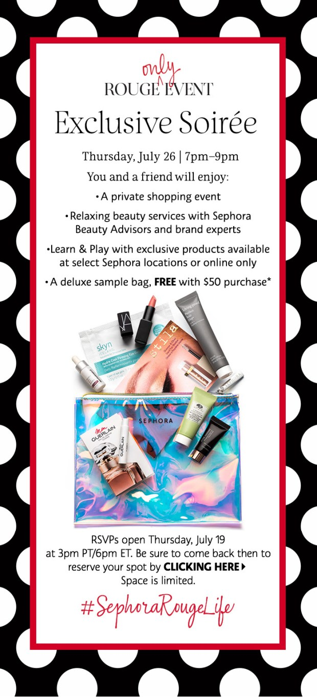 Sephora Canada Canadian Exclusive Rouge July Soiree Beauty Insider Event Summer 2018 Free Samples Free Gift Bag - Glossense
