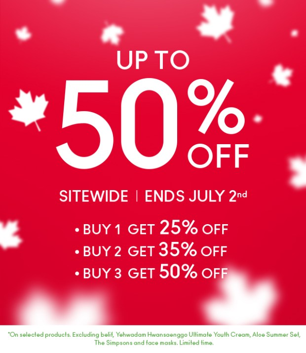 The Face Shop Canada Day Deals Canadian Promotion 2018 - Glossense