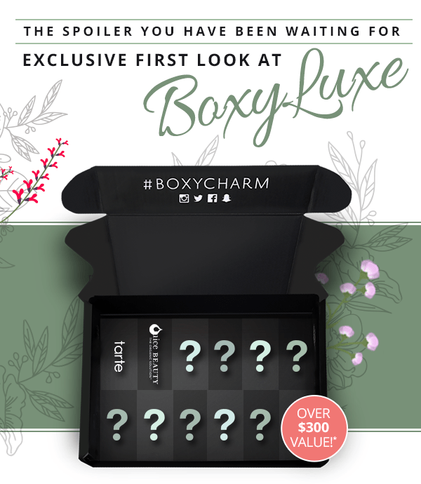 BoxyCharm Canada Canadian BoxyLuxe Subscription Box First Spoiler Juice Beauty Skincare Stem Cellular Skin Care Variation - Glossense