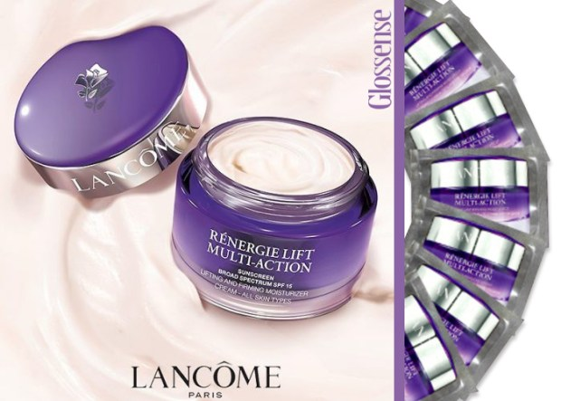 Canadian Facebook Freebies Free Lancome Canada Rénergie Lift Multi-Action Moisturizer 7 day days Free Samples - Glossense