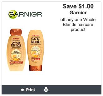 Garnier Canada Canadian Websaver Printable Coupon Whole Blends Haircare Savings Discount - Glossense
