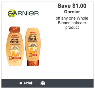 Garnier Canada Canadian Websaver Printable Coupon Whole Blends Haircare Savings Discount - Glossense