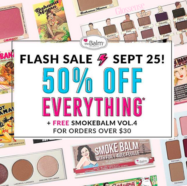 TheBalm The Balm Cosmetics Canada September 25 2018 Canadian Flash Sale 50 Percent Off - Glossense