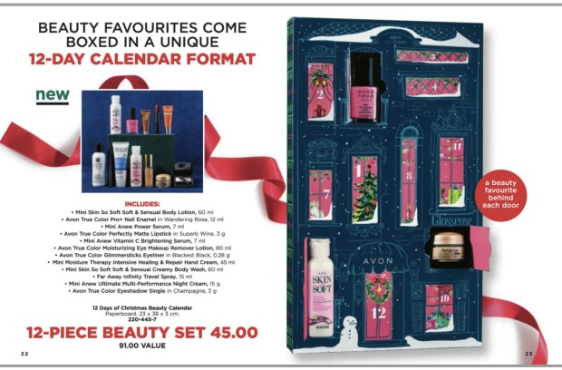 Avon Canada 12 Days of Christmas Beauty 2018 2019 Canadian Holiday Advent Calendar NOW Available October 18 - Glossense