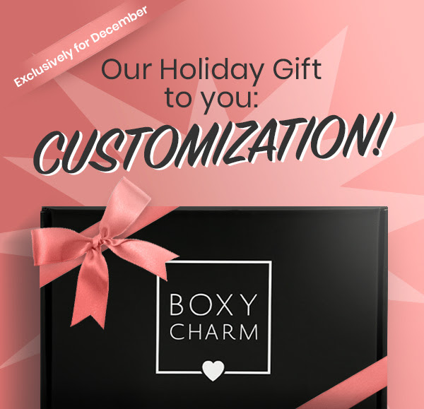 BoxyCharm Canada BoxyLuxe Canadian Subscription Box 2018 2019 October November December Cuztomize Customization Choices Selection Gift - Glossense
