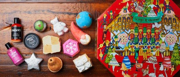Lush Fresh Handmade Cosmetics Skincare Canada Canadian 2018 Holiday Christmas Advent Calendar - Glossense