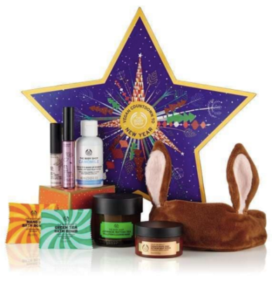 The Body Shop Countdown to 2019 New Year Vegan 2018 Canadian Holiday Star Calendar - Glossense