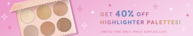 ColourPop Cosmetics Canada Canadian Black Friday Cyber Week 2018 2019 Save on Highlighter Palettes - Glossense