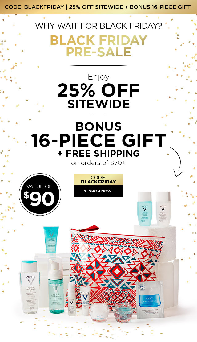 image regarding Vichy Coupon Printable called VICHY CANADA 2018 BLACK FRIDAY: 25% Off Sitewide Pre-Sale +