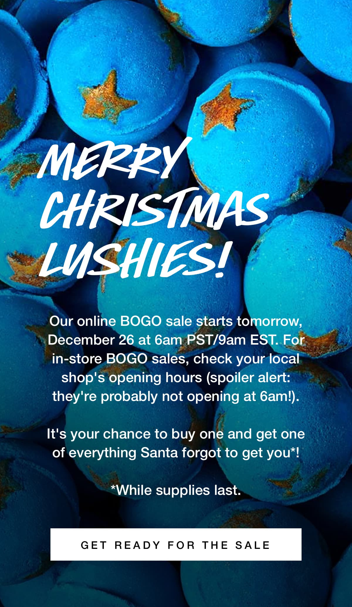 graphic regarding Lush Coupons Printable named LUSH CANADA 2018 BOXING Working day SALE: BOGO; Obtain A person, Take 1