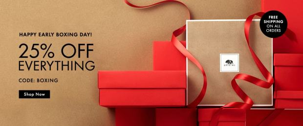 Origins Skincare Canada 2018 Canadian Boxing Day Deals Deal Sale Sales Coupon Code Promo Offer - Glossense