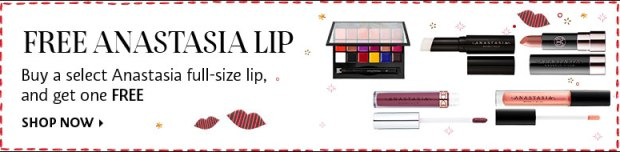Sephora Canada BOGO Buy One Get One Free Anastasia Lip Lipstick Canadian Weekly Wow Promo Offer - Glossense