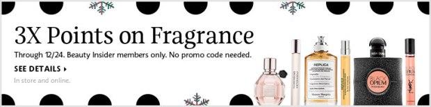 Sephora Canada Beauty Insider Canadian Rewards Program Earn Triple 3x Points Redeem Prizes Perfume Fragrance Cologne EDP Eau de Parfum December 2018 - Glossense