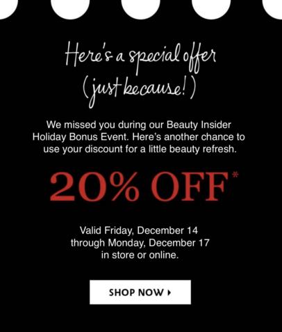Sephora Canada Canadian Sale Deal Coupon Promo Code Rouge VIB Holiday Bonus Event Offer December 2018 - Glossense