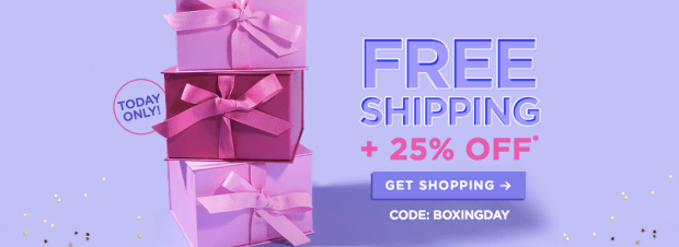 Tarte Cosmetics Canada 2018 Canadian Boxing Day Sale Deals Blowout Coupon Code Promo Offer Discount Code Extra Bonus Savings Free Shipping 2019 - Glossense