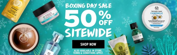 The Body Shop Canada Boxing Day Sale 2018 Canadian Deals Savings Promos Skincare - Glossense