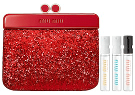 Sephora Canada Free Miu Miu Red Sparkle Clutch Purse Bag Pouch Perfume Samples Fragrance GWP Canadian Promo Coupon Code - Glossense
