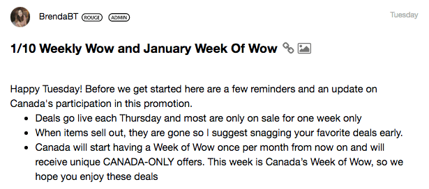 Sephora Canada Canadian Where is What happened to Weekly Wow deals Offers No new deals not available January 10 2019 once per month - Glossense