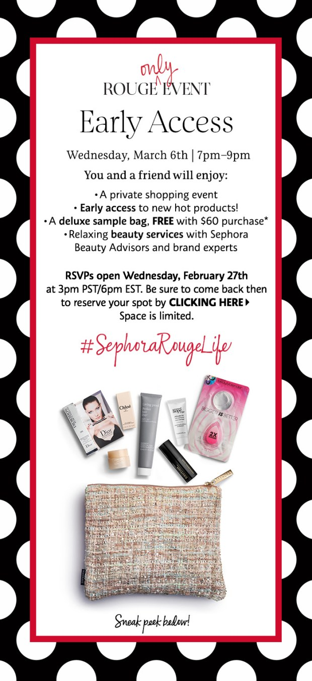 Sephora Canada Canadian Exclusive Rouge March 6 2019 Early Access Event Soiree Beauty Insider Private Shopping Free Deluxe Samples Free Gift Bag New Arrivals - Glossense