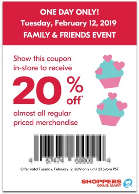 Shoppers Drug Mart Canada SDM Beauty Boutique Family and Friends and Family Event Sale Canadian Coupon Coupons Mobile App In-store Exclusive February 12 2019 - Glossense