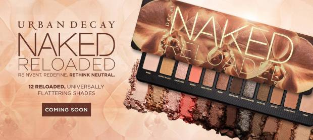 Urban Decay Cosmetics Canada New Arrival Canadian Naked Reloaded Eyeshadow Palette Neutral Shades Coming Soon - Glossense
