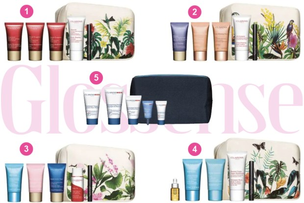 Hudson's Bay Canada HBC Canadian Deals Shop Clarins Purchase 2 Products and Choose Your Free Beauty Routine Gifts Gift Set Samples Bag Canadian Gift with Purchase Offer Spring 2019 - Glossense