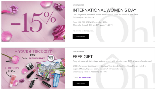 Purchasing Power Promo Code >> Lancome Canada Celebrate International Women S Day W 15