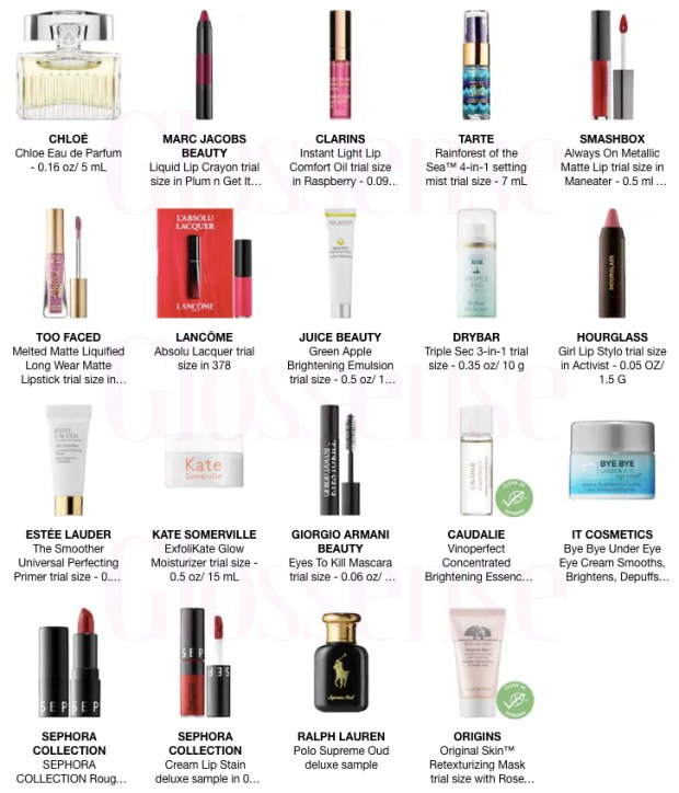 Sephora Canada Canadian Promo Code Coupon Code YOUPICK Works Pick Choose 1 to 5 Mini Deluxe Trial Samples Beauty Offer GWP Spring 2019 - Glossense
