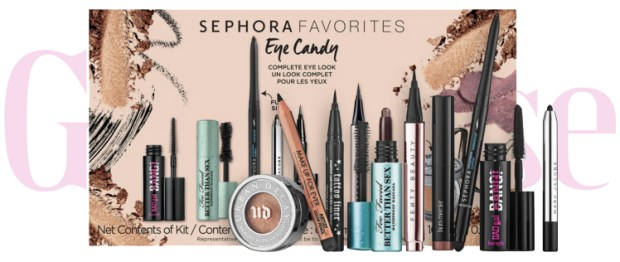 Sephora Canada Favorites Set Kit Canadian Favourites Favorite Favourite Beauty Eye Candy Set Eye Makeup Mascara Liner Shadow Collection - Glossense