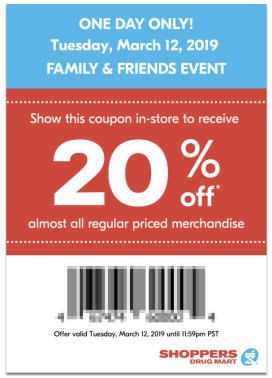 Shoppers Drug Mart Canada SDM Beauty Boutique Family and Friends and Family Event Sale Canadian Coupon Coupons Mobile App In-store Exclusive March 12 2019 - Glossense