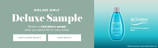 Shoppers Drug Mart SDM Beauty Boutique Canada 2019 Canadian Freebies Deals GWP Free Biotherm Life Plankton Essence Skincare Skin Care Mini Deluxe Sample - Glossense
