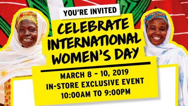 The Body Shop Canada Celebrate International Women's Day 2019 Canadian In-store Exclusive Event Make Your Free Lip Scrub 2x Points on Shea Products - Glossense