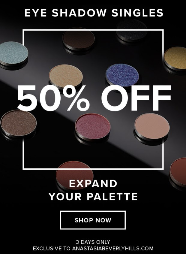 Anastasia Beverly Hills Canada ABH Canadian Deals Sale Deal Save on Eyeshadow Singles 50 Percent Off - Glossense