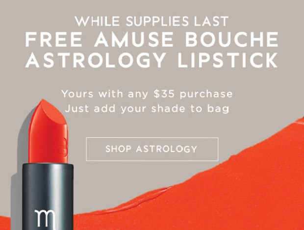 Bite Beauty Canada Canadian Freebies Free Amuse Bouche Astrology Lipstick GWP Gift with Purchase - Glossense