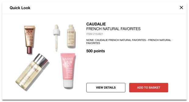 Sephora Canada Canadian Beauty Insider Rewards Bazaar Freebies Caudalie French Natural Favourites Favorites April 30 2019 - Glossense