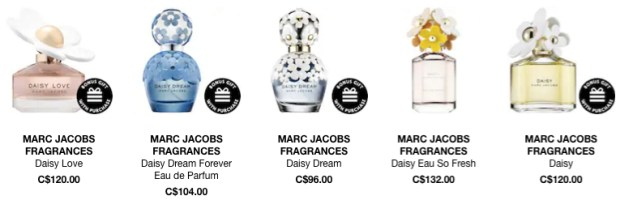 Sephora Canada Canadian Marc Jacobs Daisy Perfume Perfumes Fragrances Fragrance GWP Gift With Purchase Promo Code