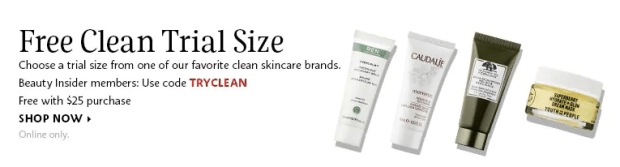 Sephora Canada Canadian Promo Code Coupon Codes TRYCLEAN Free Clean Skincare Deluxe Mini Trial Sample Origins Ren Caudalie Youth To The People GWP Gift with Purchase Canadian GWP Beauty Offer - Glossense
