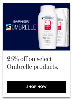 Shoppers Drug Mart Canada SDM Beauty Boutique Canadian Sale on Garnier Ombrelle Sun Care SPF Skincare Canadian Deals - Glossense
