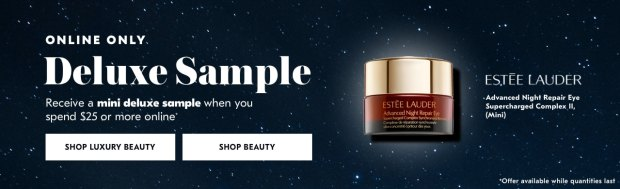 Shoppers Drug Mart SDM Beauty Boutique Canada 2019 Canadian Freebies Deals GWP Free Estee Lauder Advanced Night Repair Eye Supercharged Complex Skincare Mini Deluxe Sample - Glossense