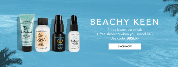 Bumble and Bumble Hair Canada Canadian Promo Code Coupon Codes 4 Free Beach Essentials BBSURF Beachy GWP Gift with Purchase - Glossense