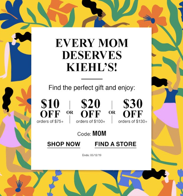 Kiehl's Canada Mother's Day 2019 Canadian Promotion Promo Code Coupon Codes Deals Savings Discount Mom Gift Sets - Glossense