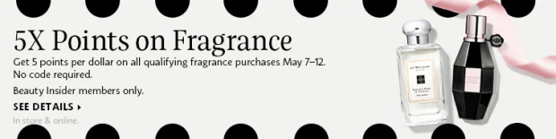 Sephora Canada Canadian Beauty Insider Bonus Points Rewards 5x times BI Points on Fragrance Perfume Cologne EDP EDT Fragrance Mother's Day Promotion Deals Spring May 2019 - Glossense