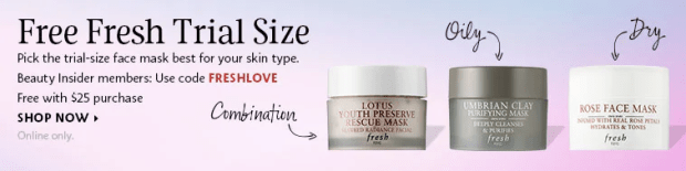 Sephora Canada Canadian Beauty Offers Promo Code Coupon Codes Fresh Lotus Rose Umbrian Clay Face Mask Facial Masks Skincare Glowing Skin Care Free Mini Deluxe Samples - Glossense