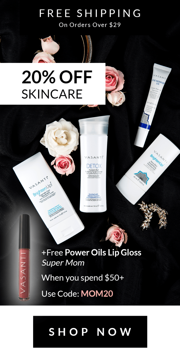 Vasanti Cosmetics Canada Canadian Mother's Day Freebies Free Super Mom Lip Gloss Sale Canadian 2019 Deals Save on Skincare Beauty Promo Code Coupon Codes - Glossense