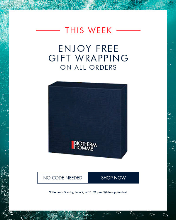 Biotherm Canada Canadian Father's Day Promotions Free Gift Wrapping June 2019 - Glossense