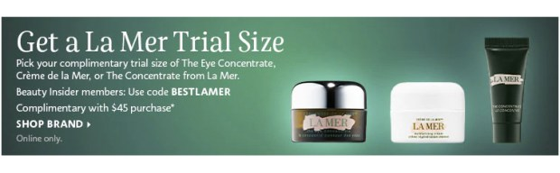 Sephora Canada Promo Code Choose 1 of 3 Free La Mer Deluxe Mini Skincare Samples with Purchase Canadian GWP Beauty Offer - Glossense