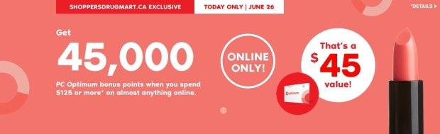 Shoppers Drug Mart Canada Beauty Boutique Canadian SDM Exclusive PC Optimum Loyalty Rewards Program PC Optimum Bonus Points Promotion Event Shop Luxury Beauty June 26 2019 - Glossense