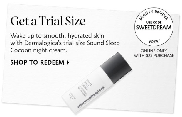 Sephora Canada Canadian Coupon Code Promo Codes Beauty Offer Free Dermalogica Sound Sleep Cocoon Night Cream Mini Deluxe Trial Sample GWP Gift with Purchase - Glossense