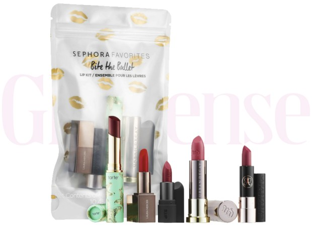 Sephora Canada Favorites Set Kit Canadian Favourites Favorite Favourites Bite the Bullet Lip Kit Lipsticks Lipstick Balm Collection Kit Set Beauty - Glossense